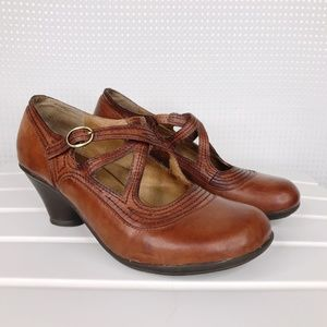 Miz Mooz Cabot Mary Jane Brown Leather US 6.5-7